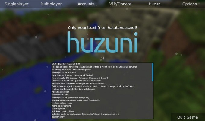 Huzuni Hacked Client - Minecraft Cheat