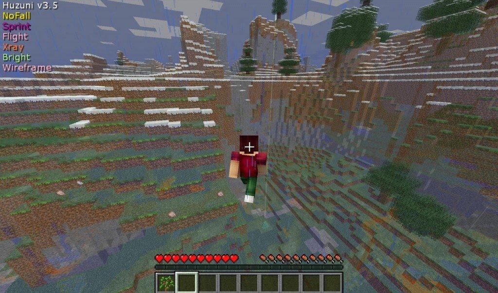 Скачать Чит Huzuni для minecraft 1.8