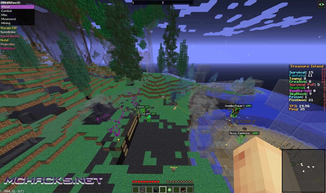 Huzuni Minecraft 1.10.2 Hack - Download for Minecraft 1.10 ...