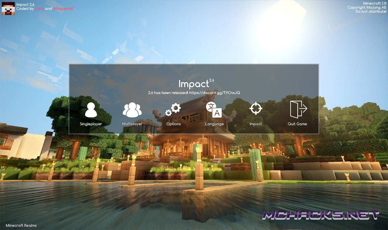 Download Impact Hacked Client for Minecraft - ALL Versions