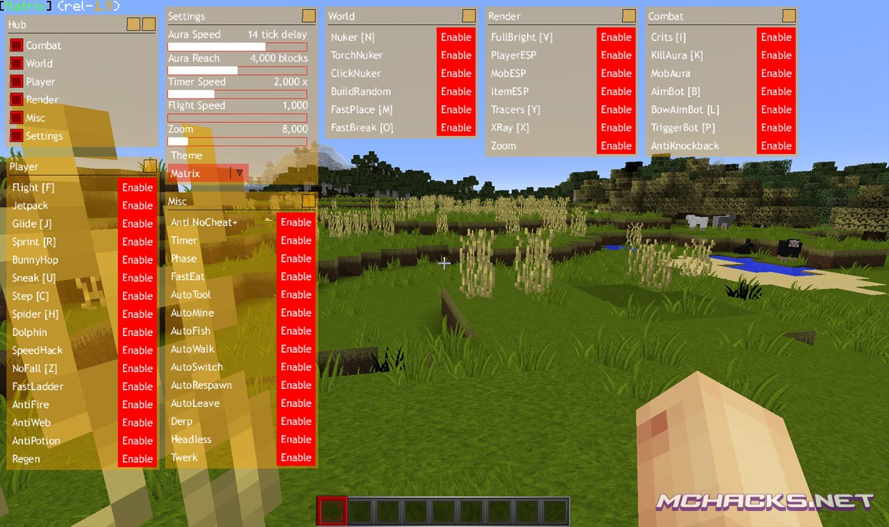 Matrix Hacked Client | Download for Minecraft 1 8 X - 1 8 8