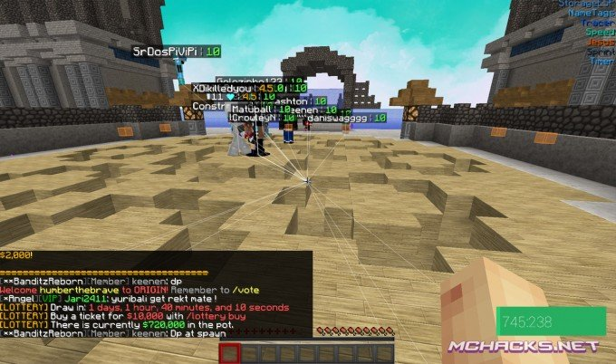 NULL hacked client for Minecraft