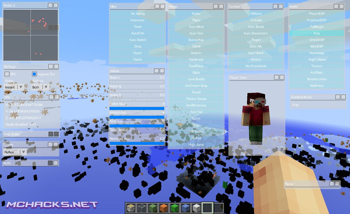 Minecraft 1 8 X Hacks Cheats Hacked Clients