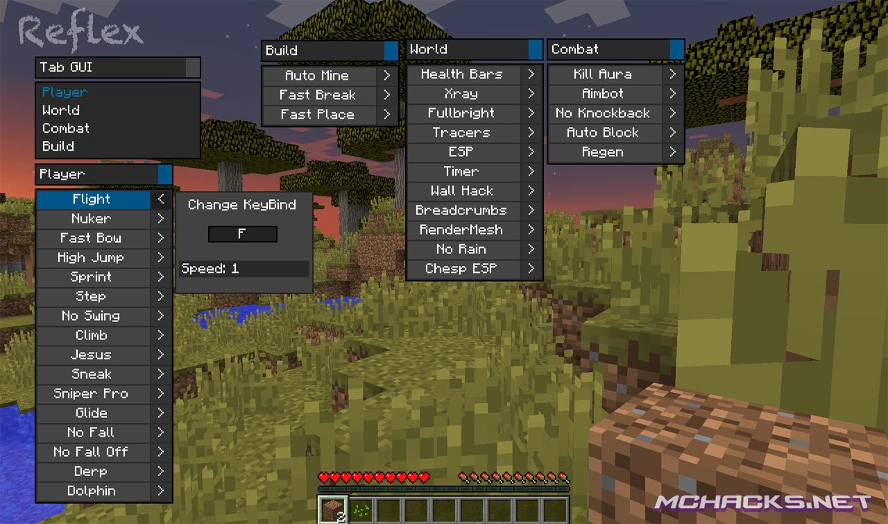 Reflex Hacked Client | Download for Minecraft 1.8.X - 1.8 ...