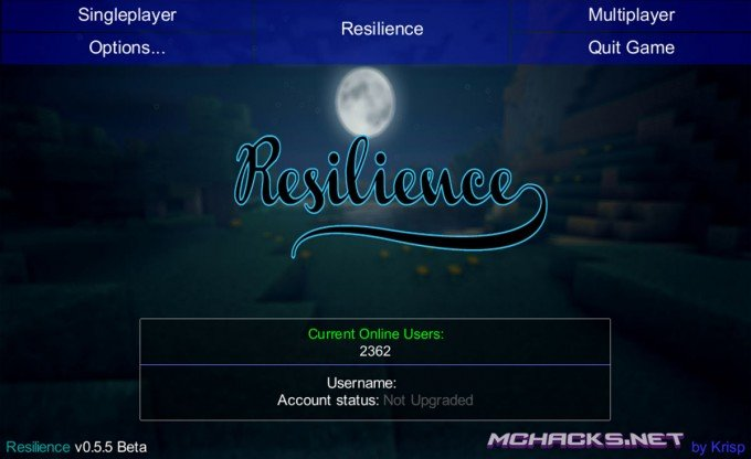 Resilience Hacked Client for Minecraft