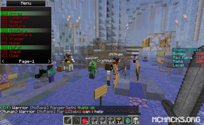 Rubix xray hacked Minecraft client