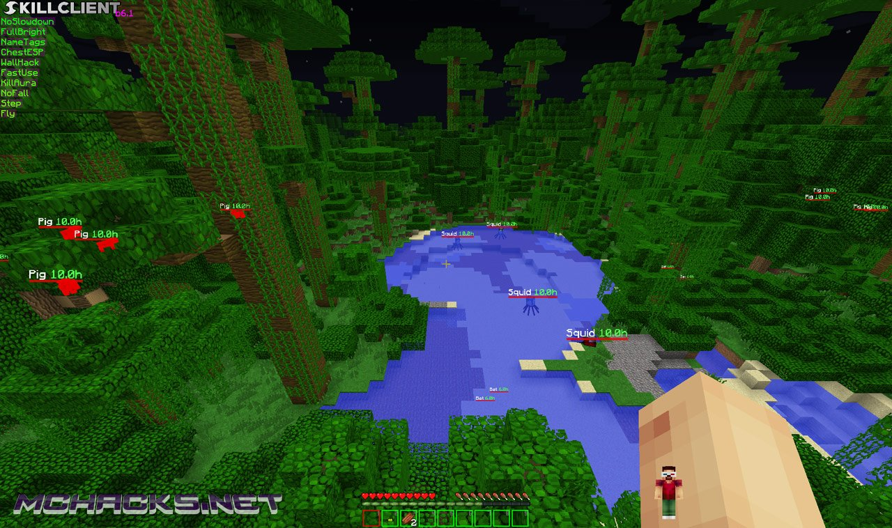 Download SkillClient Hacked Client for Minecraft - ALL Versions