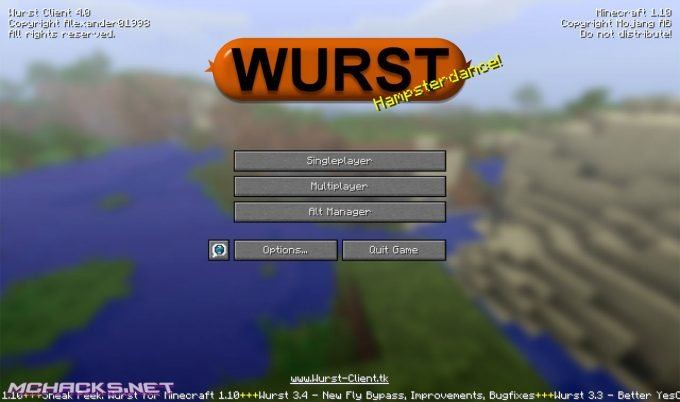 Wurst Client for Minecraft 1.10.X - MCHACKS.net